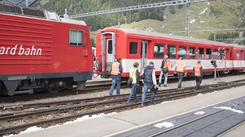 Le 11 septembre dernier, lors d'une manoeuvre, la locomotive décrochée de son train a percuté sa propre composition de wagons au lieu de la longer sur une autre voie.