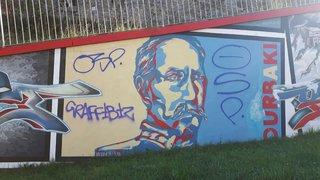 La fresque vandalisée