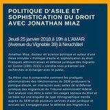 Conférence : Politique d'asile et usage du droit
