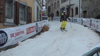 Fribourg: des pistes de ski en plein centre d'Estavayer-le-lac pour l'Esta Snow Fest
