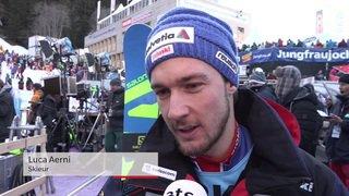 Ski alpin: réaction de Luca Aerni, éliminé lors du slalom de Wengen