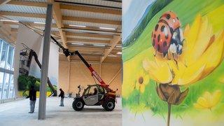 La fresque géante qui égaye la zone industrielle de Fleurier