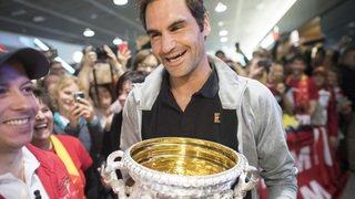 Roger Federer accueilli par ses fans après son 20e Grand Chelem