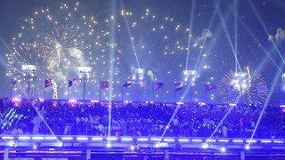 La cérémonie d'ouverture des JO de PyeongChang