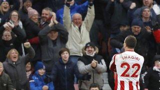Football: Xherdan Shaqiri marque encore avec Stoke City