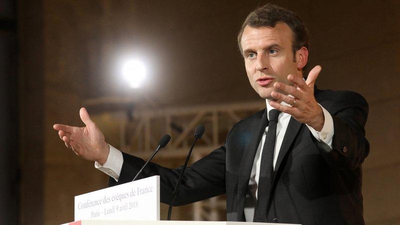 Le président Emmanuel Macron s'est récemment exprimé devant la Conférence des évêques de France.