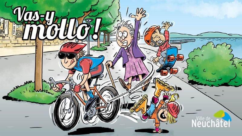 Le visuel, qui sera affiché en ville de Neuchâtel et dans les transports publics, a été réalisé par l'illustratrice Caro.
