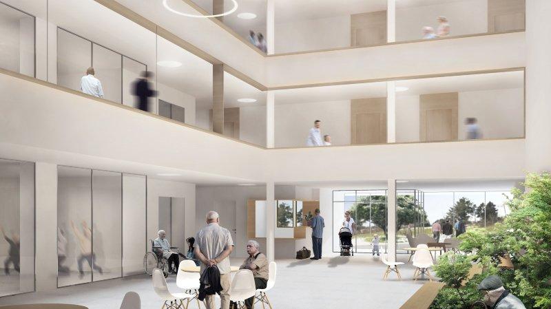 L'atrium du projet de rénovation et d'extension de La Sombaille.