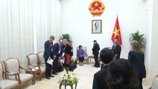 Doris Leuthard en visite au Vietnam