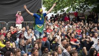 Le match Suisse - Brésil à Festi'neuch