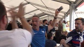 Les Français fêtent la victoire à Genève