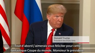 Helsinki: sommet historique entre Donald Trump et Vladimir Poutine