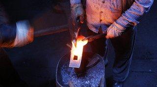 Le travail du forgeron à l'honneur au Pâquier