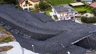 Valais: coulée de boue monstre à Chamoson