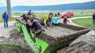 Francs rires au premier Boue Challenge organisé par les sauveteurs de Val-de-Ruz