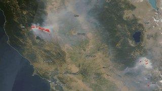Fumées de l'incendie en Californie jusqu'au-dessus de la Suisse