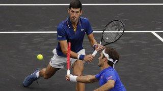 Tennis - Laver Cup: Federer/Djokovic perdent, l'Europe mène toujours