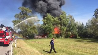 Incendie près du Loclat