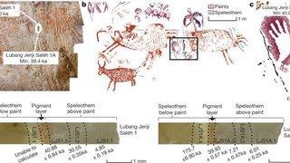 Art rupestre: la plus ancienne peinture figurative connue a été réalisée en Asie