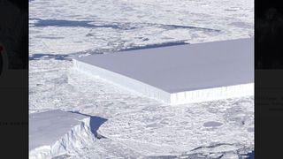 """Un iceberg """"rectangle"""", photographié par la Nasa, fait le buzz"""