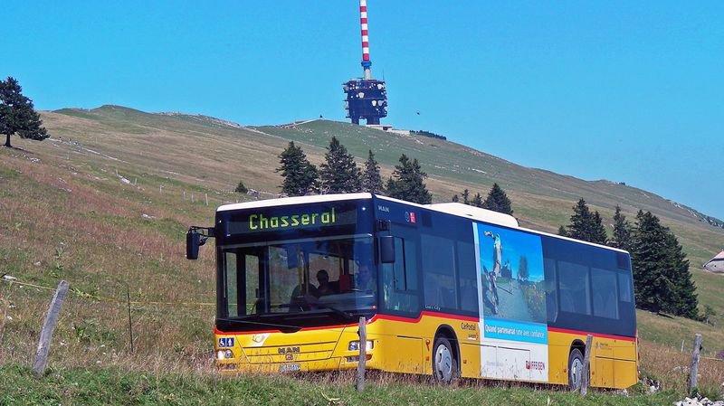 Fréquentation en hausse pour la ligne de bus reliant Nods à Chasseral