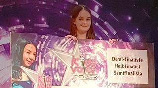 Emelyne a remporté le ticket pour la demi-finale nationale