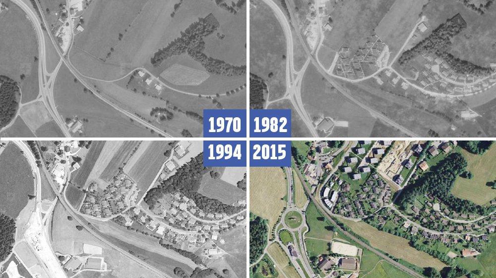 Entre 1970 et 2015, le quartier des Prés-Verts à La Chaux-de-Fonds