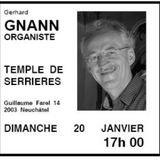 Récital d'orgue par Gerhard Gnann