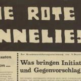 Die Rote Anneliese : éléments de réflexion autour d'une revue contestataire