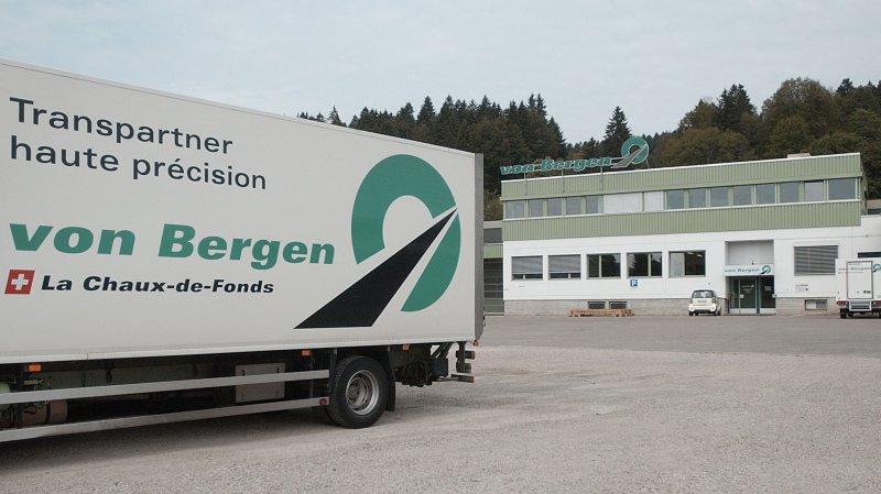 Avant le partenariat avec Decathlon, l'entreprise de transports von Bergen comptait 240 employés répartis sur quatre sites en Suisse romande. Ici, le siège social de la société au Crêt-du-Locle.