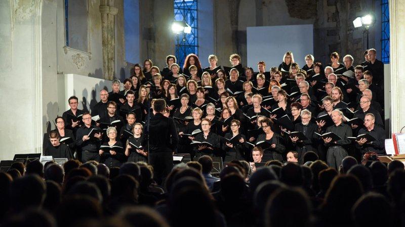 C'est lors d'une répétition d'une chorale à Delémont (ici l'Echo des Sommêtres au Noirmont) qu'une barrière a cédé faisant tromber des chanteurs.