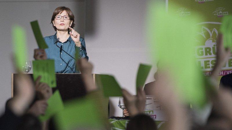 La présidente des Verts suisses, Regula Rytz, a dénoncé le virage à droite des fédérales de 2015.