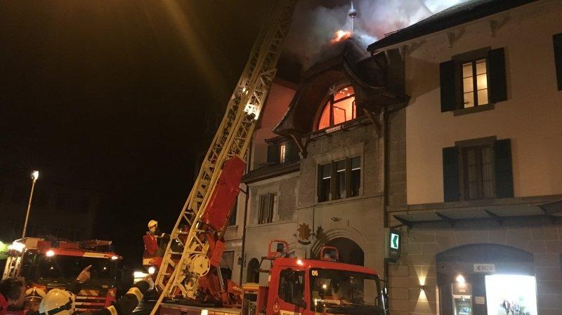L'incendie s'est produit dans un immeuble de la rue du Bourg à Oron.