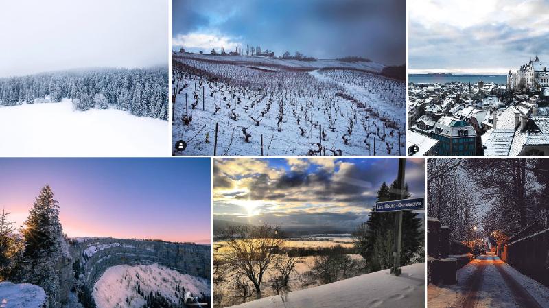 Les Neuchâtelois ont accueilli la neige sur les réseaux sociaux