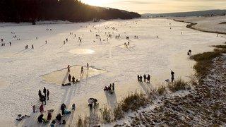 La foule au lac des Taillères