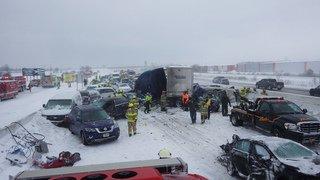 Etats-Unis: 131 véhicules impliqués dans un carambolage monstre dans le Wisconsin