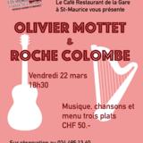 Repas/concert avec Olivier Mottet & Roche Colombe