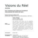 Visions du Réel: Rendez-vous culturel
