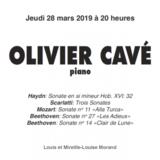 CONCERT OLIVIER CAVE A LA FONDATION PIERRE GIANADDA