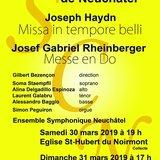 Société Chorale de Neuchâtel : Haydn et Rheinberger