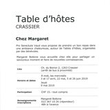 Table d'hôtes à Crassier