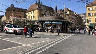 Neuchâtel: un homme trouvé inconscient dans les toilettes de la place Pury