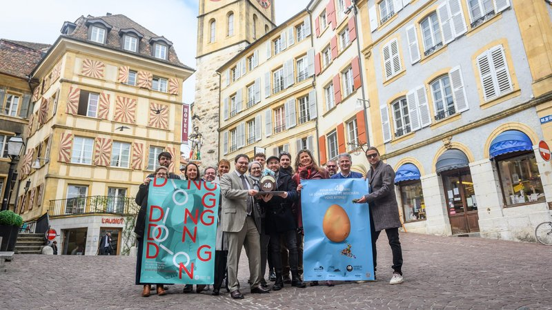 Un oeuf géant pour célébrer les 40 ans de la zone piétonne de Neuchâtel