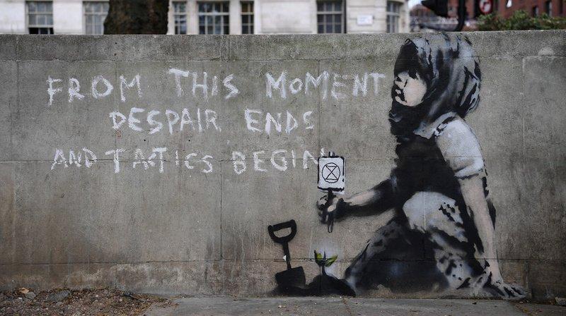 Une nouvelle oeuvre attribuée à Banksy apparaît à Londres