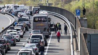 Week-end de Pâques: le portail nord du tunnel du Gothard embouteillé sur 15 km