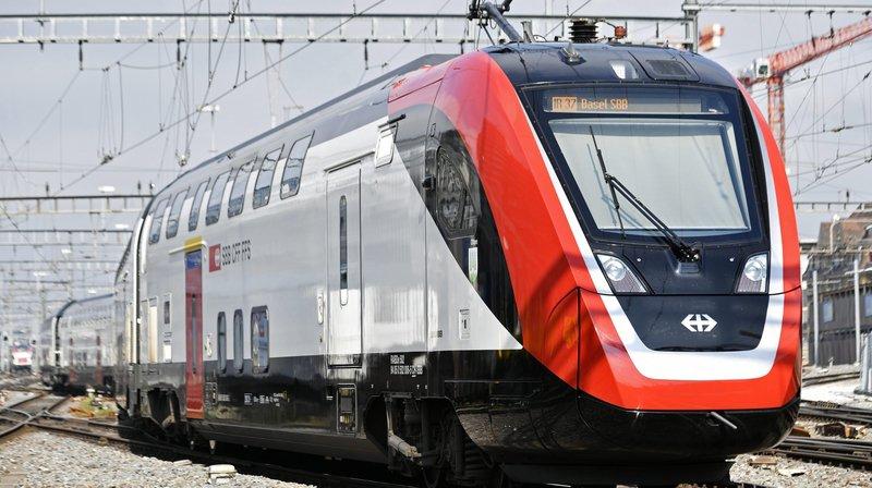 Une rame Duplex TGL en gare de Zurich. Pareils trains stationnement régulièrement en gare de Neuchâtel depuis début mai.