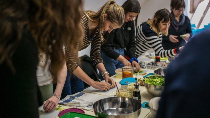 Neuchâtel: ils ont appris à cuisiner des repas de midi durables