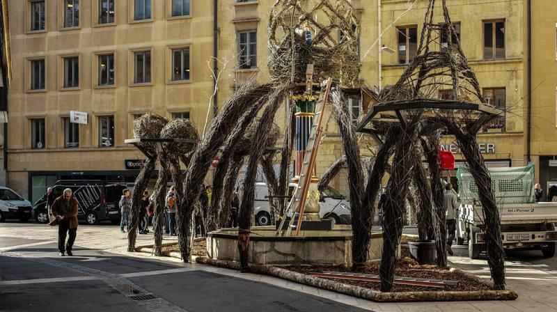 Neuchâtel: mais qu'ont-ils fait de la fontaine de la justice?