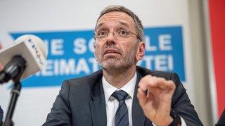 Le ministre de l'Intérieur Herbert Kickl limogé