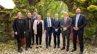 Le conseiller fédéral Ignazio Cassis reçu à l'Abbaye de Bevaix